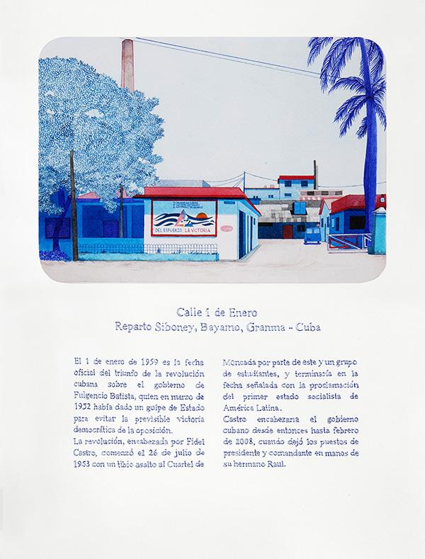 TODAS LAS CALLES DEL AÑO. 2012 - 2015. 365 drawings. 31 cm x 41 cm.