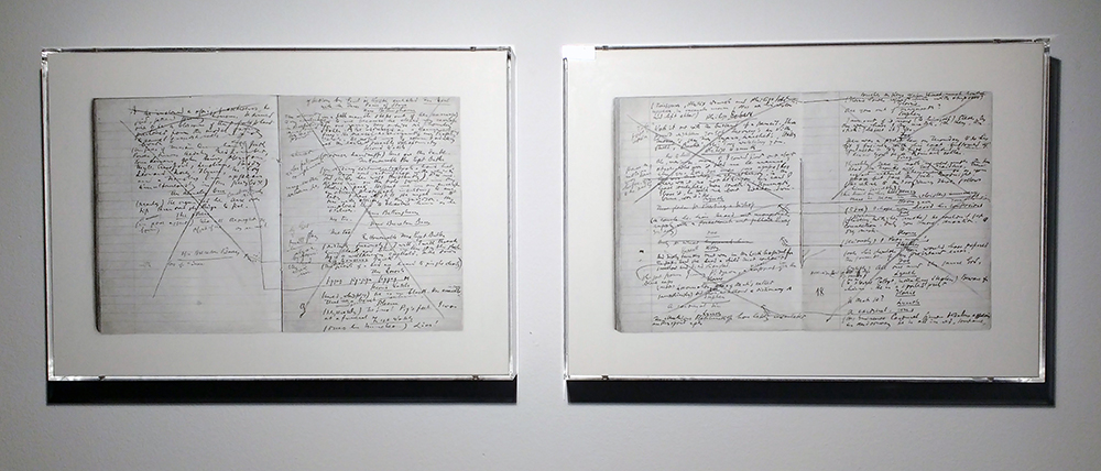 Left: Ulises (Manuscrito Circe 1). Right: Ulises (Manuscrito Circe 2). 2016. Graphite on paper. 39 x 55,4 cm.