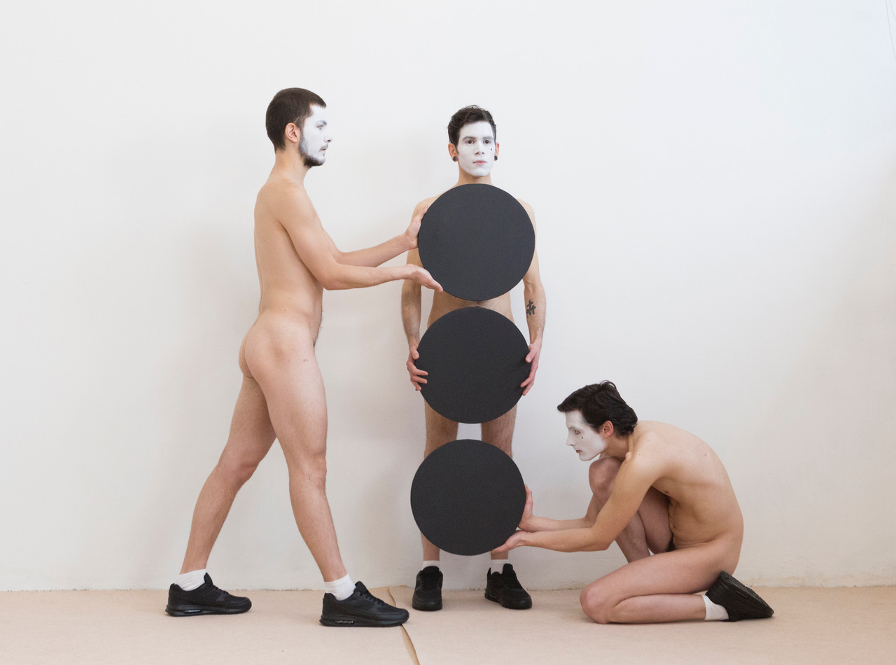 Mon Ami Pierrot Mon Ami, 2017 Performance Performers: Gian Maria Borzillo, Ruggero Griffini, Alessandro Simonini.